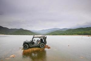 Traveling by jeep photo