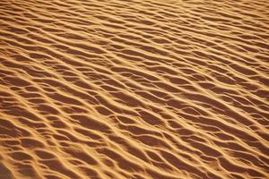 texture of sand in the desert from the winds photo