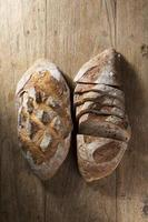 Rustic loaves of bread.