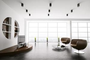 interior moderno de la sala de estar 3d foto