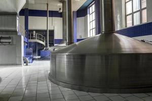 Modern beer brewery.
