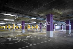 Empty parking garage photo