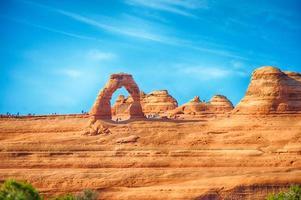 famoso arco delicado en el parque nacional arches
