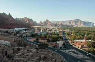 Overlooking the city of Al Ula, Saudi Arabia photo