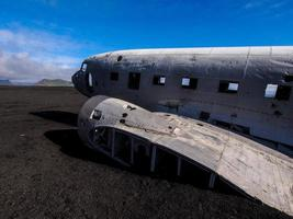 Wreck of a US military plane crashed in Iceland photo