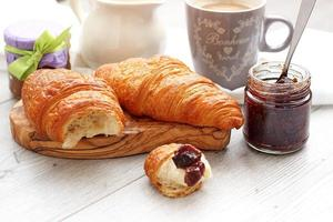 croissants with jam from a fig