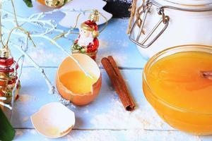 cover cookbook broken egg all for baking photo