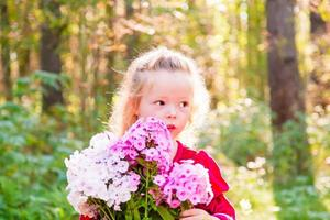 Girl in forest photo