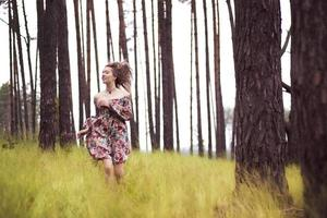 Woman in the forest photo