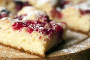 Homemade pie with forest fruits