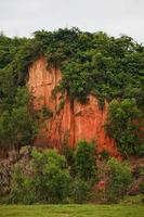 Mountains of red clay forests in Vietnam