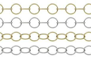 Seamless golden and silver chain photo