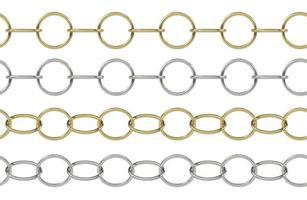 cadena de oro y plata sin costura