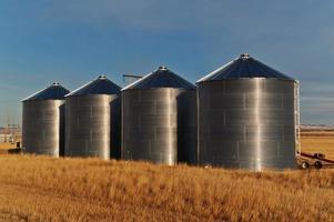 silos en un campo foto