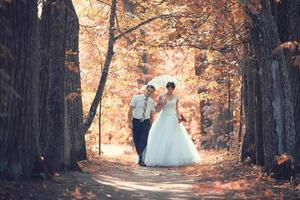 bruiloft portret herfst natuur
