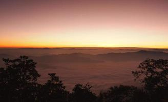 Sunrise view point from Doi Chiang Dao mountain photo