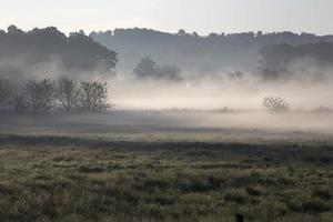 misty morning in rural Ohio photo