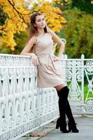 Autumn woman. photo