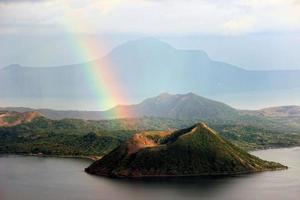 Volcanic rainbow connection photo
