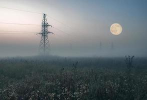 Power line at dusk