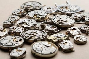 Time and clock mechanisms. photo