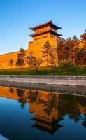 reconstruindo a muralha da cidade e a torre do portão de datong