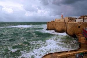 Acre sea wall, Israel