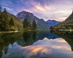 jezioro górskie w Alpach Julijskich photo