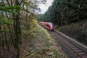 german autumn railway