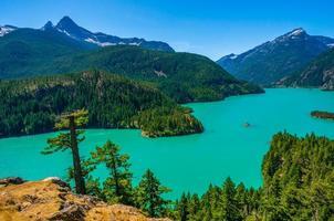 Diablo Lake at North Cascades national park photo