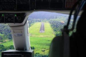 vista de cabina de aterrizaje