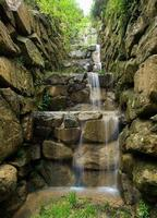 Artificial waterfall in vertical composition