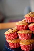 pilha de muffins de chocolate