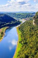 Saxon Switzerland. View from the abbey Bastei. photo