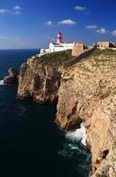 Cape Saint Vincent Lighthouse in Sagres, Algarve,