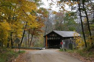 Whites Covered Bridge in Autumn