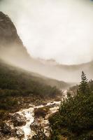 river down the mountain photo