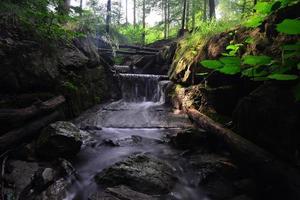 Morgen Wasserfall