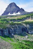 High mountains of the Glacier National Park photo