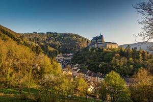 Medieval Castle Vianden, top of the mountain Luxembourg or Letzebuerg photo