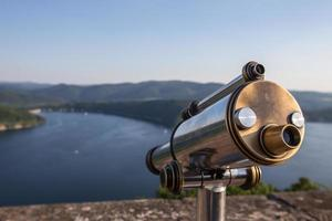 edersee lake germany with telescope from castle waldeck