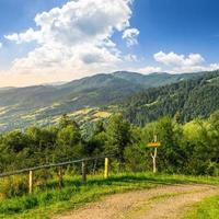 fence on hillside in mountain