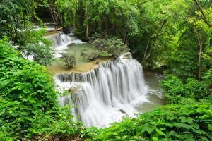 water fall , hua mae kamin level 4 kanchanaburi thailand photo