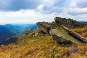 old stones in Carpathians photo
