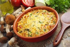 Vegetable casserole with mushrooms photo