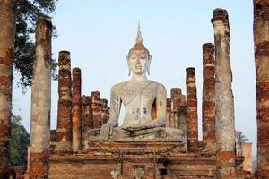 Ancient buddha statue. Sukhothai Historical Park