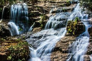 ngao waterfall, ranong province, thailand