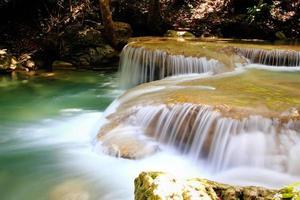 Beautiful Waterfall at Erawan National Park