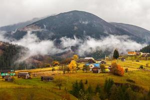 global warming. mountain landscape. Clouds and fog photo