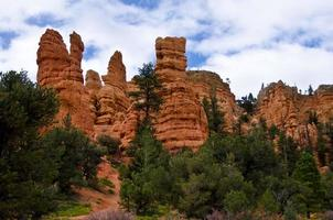 Hoodoo Rock Formations of Red Canyon